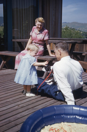 Grandma & Grandpa Turner With Anne 1954