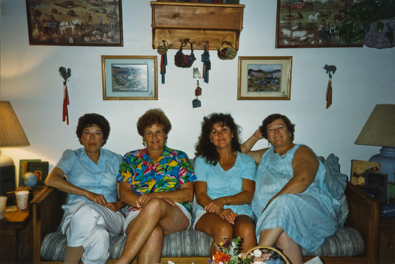 Merideth, Loralie, Beverly, and Cheryl. at Terry's House.