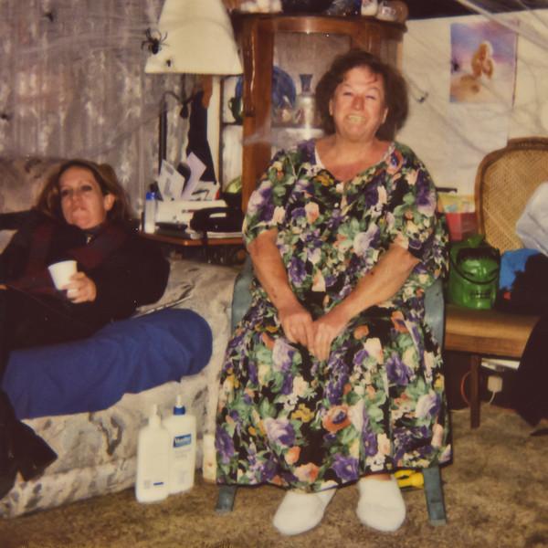 Merideth, and Beth on Halloween.