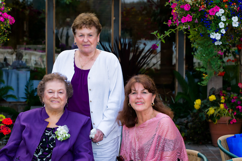 Merideth, Loralie, and Cheryl at Megan's Wedding.