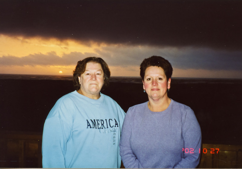 Merideth, and Terry at the ocean in 2002.