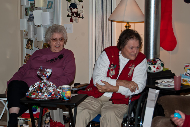 Merideth, and Rita, Chistmas at Kathy's house 2007.
