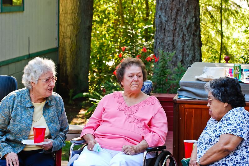 Merideth, Rita, and Kerry at Jakes Graduation Party at Tom's house.