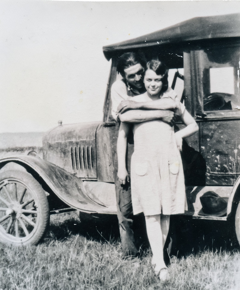 George VanHorn and Wilma Boulds. 1928 in North Dakota.