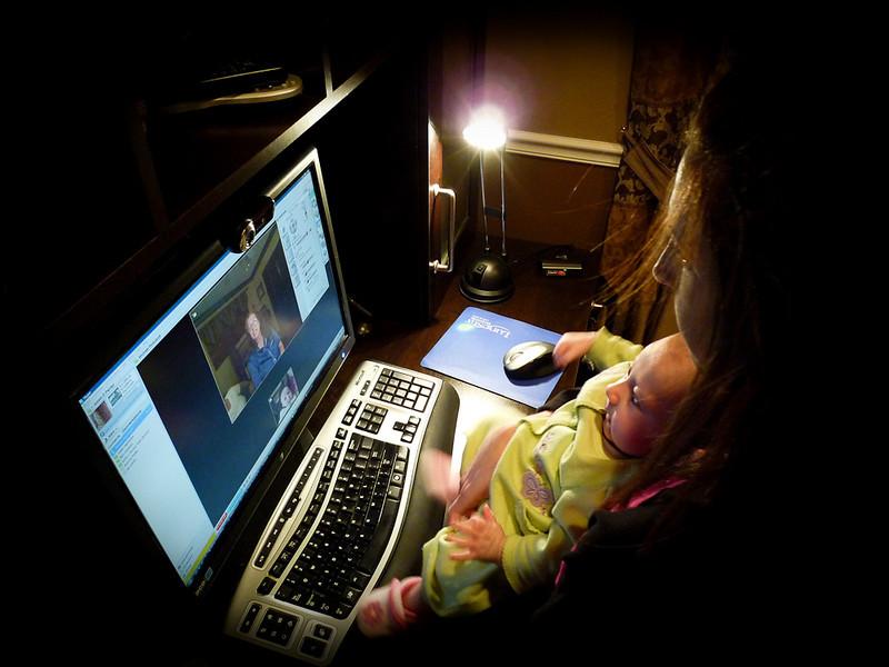 Grandparent connection... webcam wonders!
