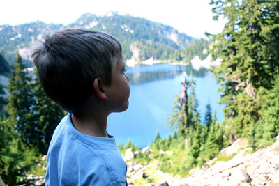 Lucas checking out the lake.