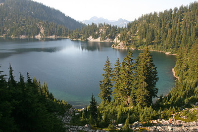 View of Snow Lake. That's a raft in there in the middle. We should try that.