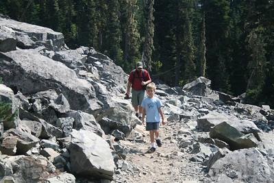 It was a pretty rocky trail.