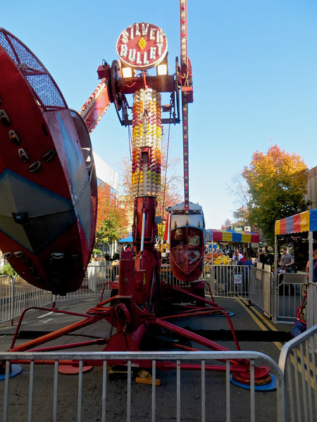 Dennis and Shane on the left and the girls on the right side of this scary ride