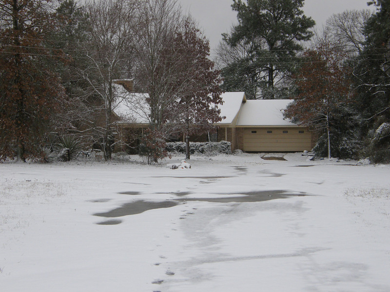 Oh no!  My house is covered in snow!