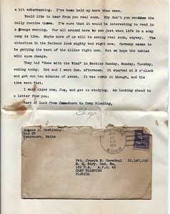 To Joseph Snowdeal from Eugene Mawhinney Apr 15 1941