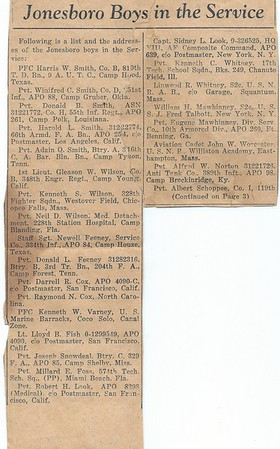 Newspaper Article 1941