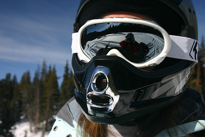 Darth Kelsie!  And Mom in the goggles.