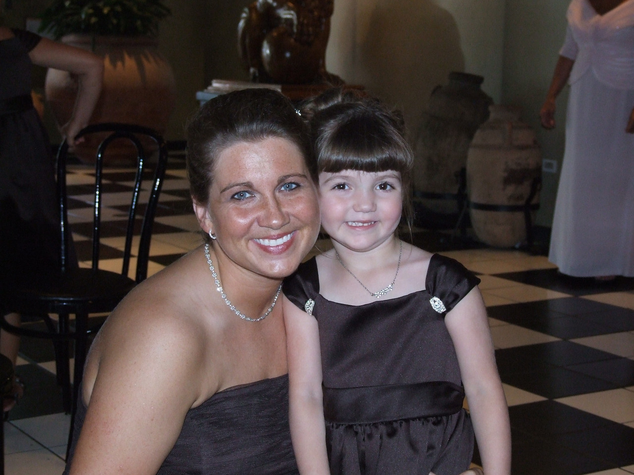 Mia and I at Natty's wedding.