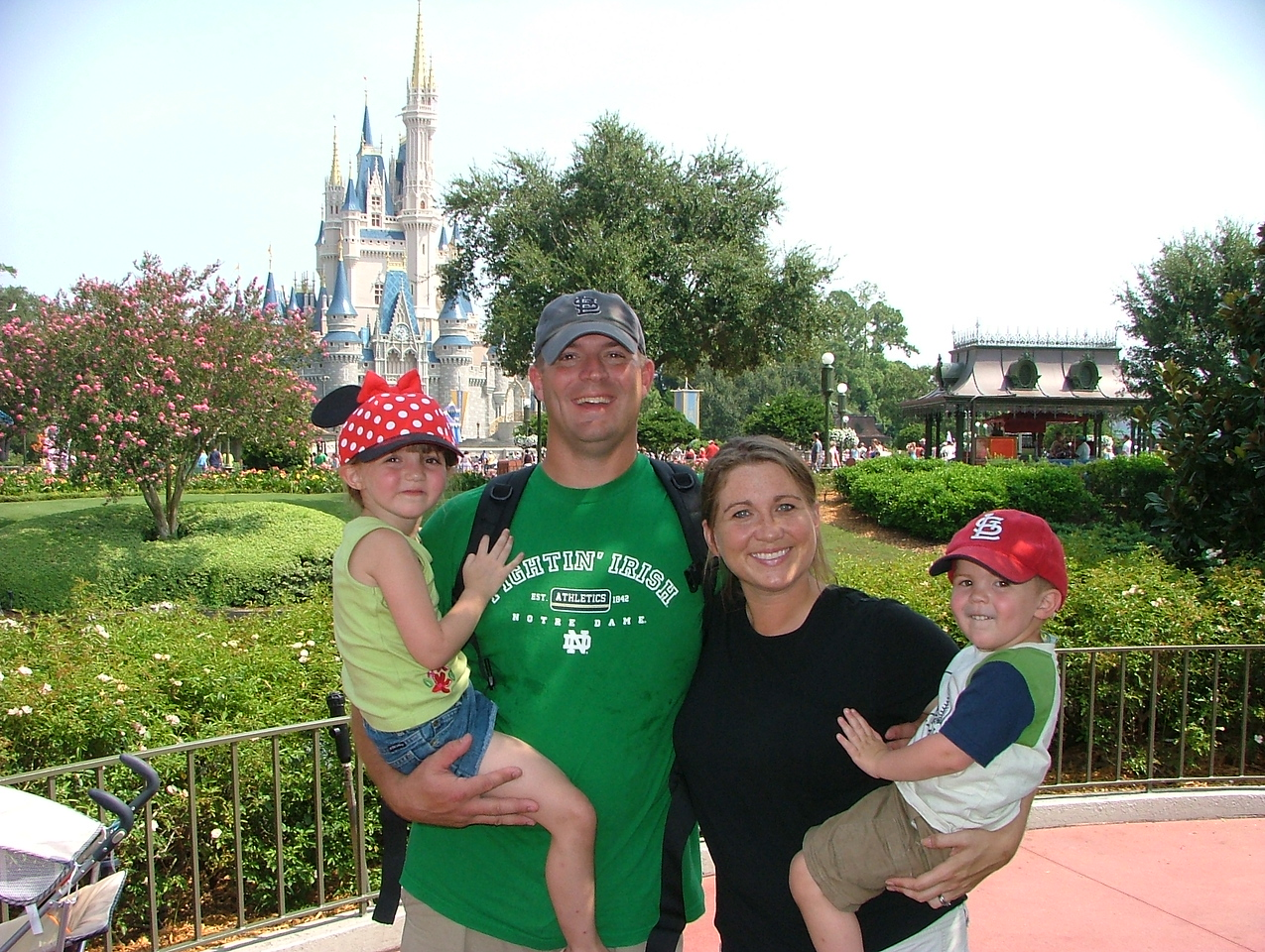 Bobby, me, and the kids at Disney World- AUG 2007