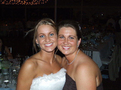 Natty and I at her wedding this summer.
