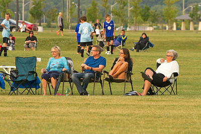 Parents and grandparents on the sidelines
