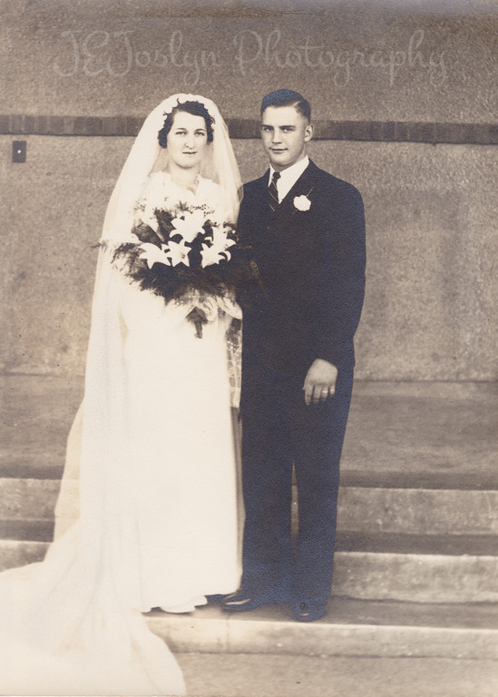 Clara Knapp and Roman Friendshuh October 7, 1936   Joyce Kesslers mother and father.