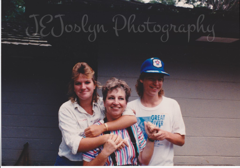 Amy, Jean and Matt.  1989, Picnic at Art and Mary's.