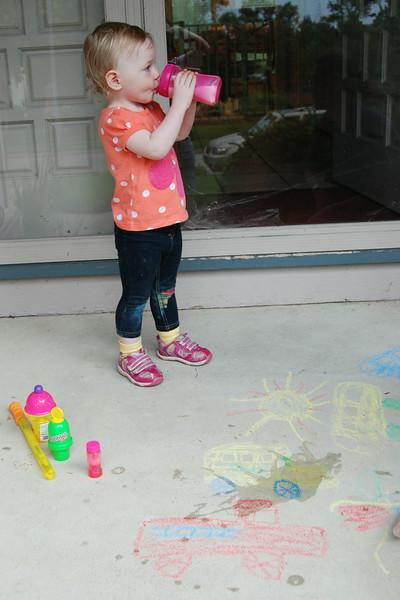 All in a day's work. I've got the chalk to show it.