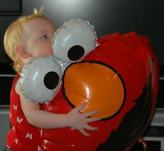 Aunt Melinda brought me an Elmo balloon!