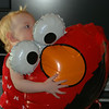 Aunt Melinda brought me an Elmo balloon!