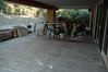 Sunday, August 9, 2009, two-thirds of patio has marble floor.