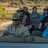 The whole gang driving out to see a stunning sunset.  Senalala Game Lodge, South Africa