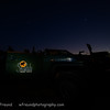 Our trusty Toyota safari vehicle under the beautiful South African night sky.  Senalala Game Lodge, South Africa