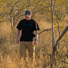 """Max coming back from """"checking the tires"""" during one of our drives.  Senalala Game Lodge, South Africa"""