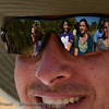 Reflection of the girls off of David's glasses.  Senalala Game Lodge, South Africa