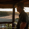 James looking out during a stunning sunset.  Senalala Game Lodge, South Africa