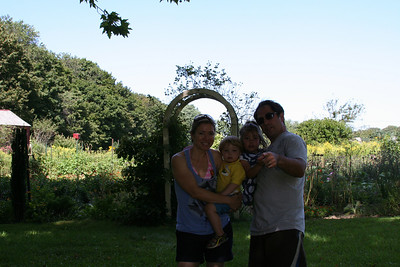 With a Tripod, I can Set up Terrible Family Photos.  The Gardens on Land Trust Land
