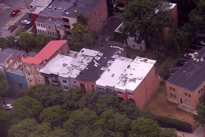View of the homes on Madison Place from the Corning Tower