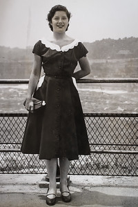 Margaret at Niagara Falls (Honeymoon) 1952