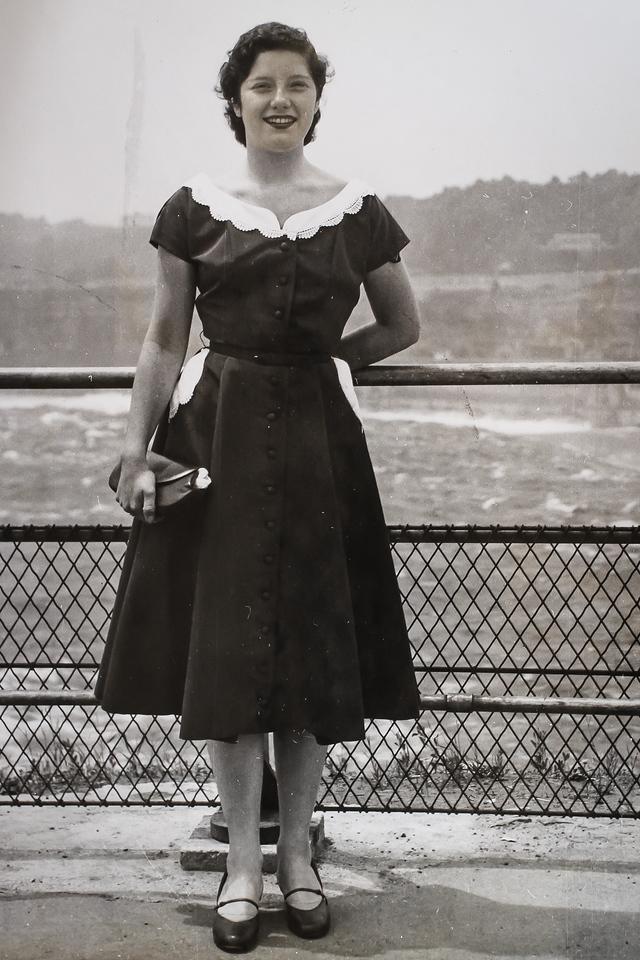 Margaret at Niagara Falls (Honeymoon) 1952