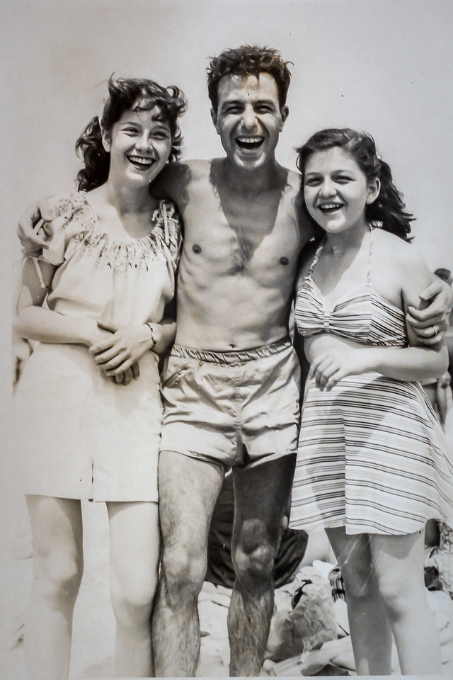 Margaret with cousins Ralph & Rosemarie  Revere Beach 1948