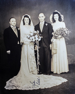 Edith Spagnolo Matranga & George Matranga with Emily Spagnolo Saccone