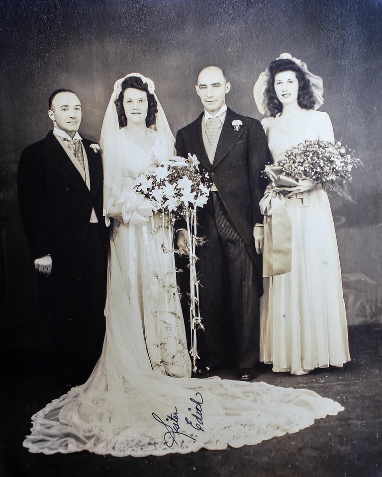 Edith Spagnolo Matranga & George Matranga with Emily Spagnolo Saccone