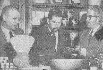 Frank (Butch)Spagnolo, (Center)only son of Tommasso and Rose, from the 1965 Times Union paper. I think he was in a Tobacco shop.