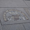 "Outside the post office in ""Sol"" - this spot marks the center of Spain. All distances are measured from here."