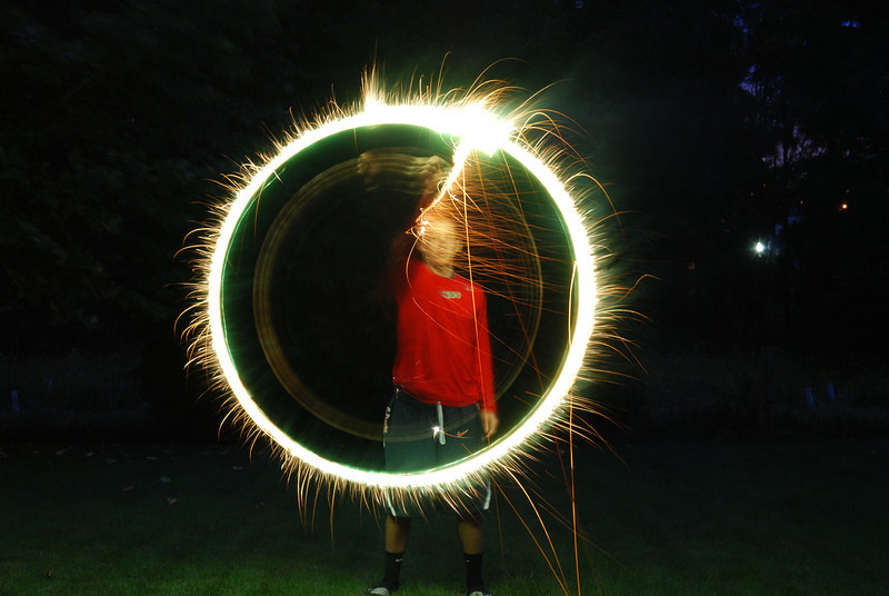 """7.02.12  <b>Sparklers - playing with fire</b>  More pictures at <a href=""""http://jrogers.smugmug.com/Family/Sparklers-2012/23940930_fTFFCf"""">Sparklers 2012</a>"""