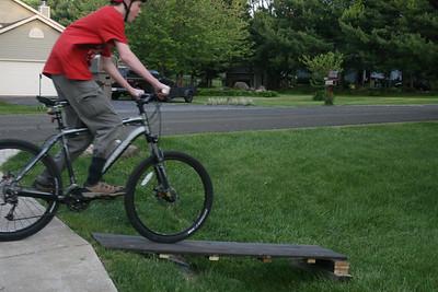 Spencer on his new Trek MTB  5-17-2010