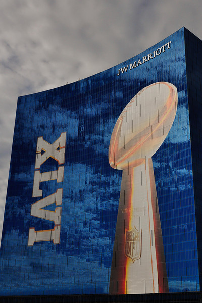 Super Bowl 46, Indianapolis, Marriott Hotel banner