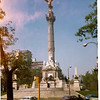 Trip to Mexico City, summer 1975.  Independence Monument.