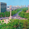 Postcard; Independence Monument and Sheraton Hotel Maria Isabel, Mexico City, Summer 1975.