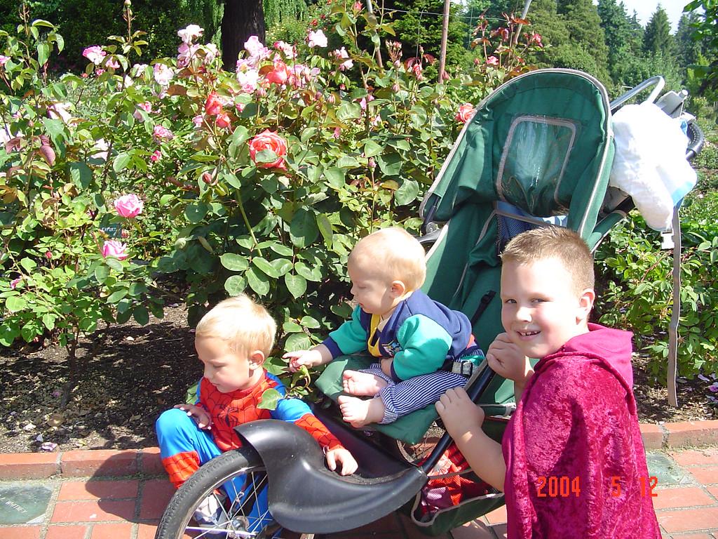 Portland Rose Garden.  Ian always wore a costume!