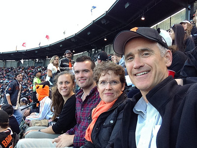 Family at Giants Game, June 4