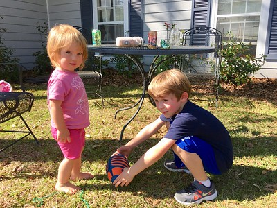 Luca and cousin baby Teagan