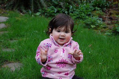 hannah in our backyard